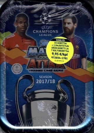 Champions League Match Attax Mini Tin Keräilykortit