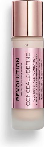 Makeup Revolution Conceal & Define Foundation F3 Meikkivoide