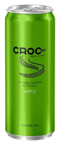Croc Tail E + Vodka Long Drink Omena Alkoholijuoma Cocktail 4,7% 330Ml