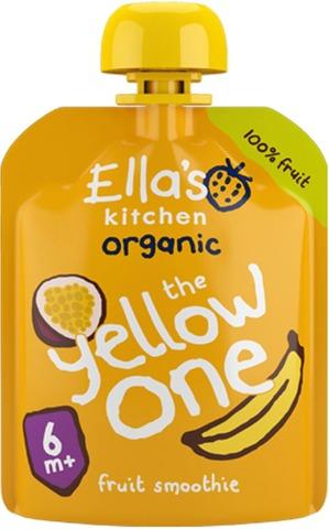 90G Ella's Kitchen The Yellow One, Keltainen Hedelmäsmoothie Alkaen 6Kk Luomu