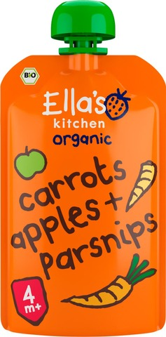 120G Ella's Kitchen Porkkana-Omena-Palsternakkasose Alkaen 4 Kk Luomu