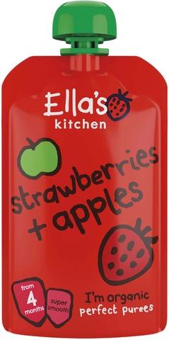 120G Ella's Kitchen Mansikka-Omenasose Alkaen 4Kk Luomu