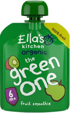 90G Ella's Kitchen The Green One, Vihreä Hedelmäsmoothie Alkaen 6Kk Luomu