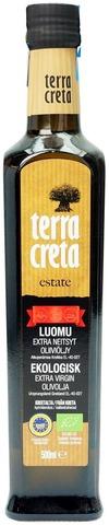 Terra Creta 500ml Estate Luomu Extra neitsyt oliiviöljy
