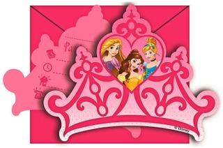 Disney Prinsessat Kutsukortti 6Kpl