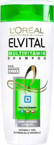 L'oréal Paris Elvital Multivitamin Shampoo Normaaleille Hiuksille 250Ml