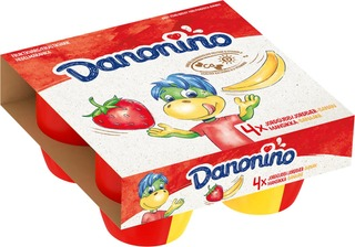 Danone Danonino Mansikka-Banaani Hedelmärahka 4X95g