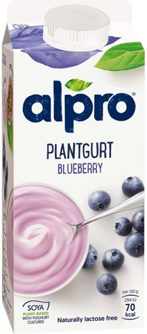Alpro Plantgurt Hapatettu Soijavalmiste, Mustikka 750G