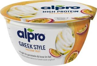 Alpro  Greek Style Hapatettu Soijavalmiste, Passionhedelmä 150G