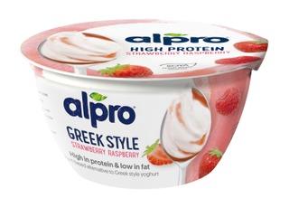 Alpro Greek Style Hapatettu Soijavalmiste, Mansikka-Vadelma 150G