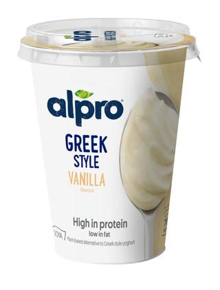 Alpro Greek Style Hapatettu Soijavalmiste, Vanilja 400G