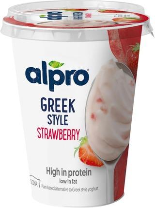 Alpro Greek Style Hapatettu Soijavalmiste, Mansikka 400G