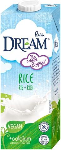 Dream Ca+Vit Riisijuoma 1L Kalkkirikastettu Ja Vitaminoitu