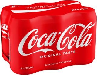 6-Pack Coca-Cola Original Taste Virvoitusjuoma Tölkki 0,33 L