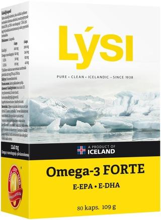 Lysi Omega-3 Forte Kalaöljykapseli 64+16Kaps 109G Ravintolisä