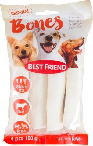 Best Friend Bones Vaalea pururulla 12cm 4kpl 120g