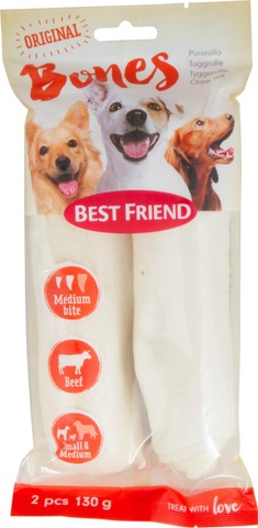 Best Friend Bones Vaalea Pururulla 17Cm 2Kpl 130G