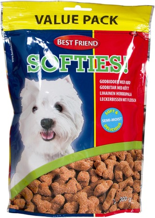 Best Friend Softies Lihainen Herkku Value Pack 300G