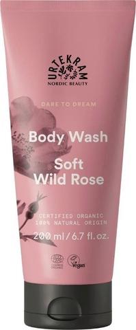 Urtekram Luomu Soft Wild Rose Suihkusaippua 200Ml
