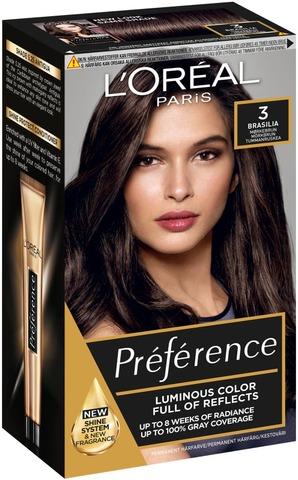 L'oréal Paris Préférence Infinia 3 Brasil Dark Brown Tummanruskea Kestoväri 1Kpl