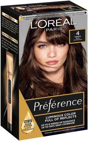 L'oréal Paris Préférence Infinia 4 Tahiti Natural Brown Keskiruskea Kestoväri 1Kpl