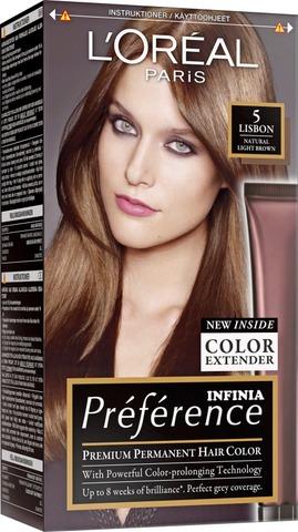 L'oréal Paris Préférence 5.0 Rome Light Brown Vaalenaruskea Kestoväri 1Kpl