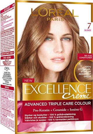 L'oréal Paris Excellence Creme 7 Blonde Tummanvaalea Kestoväri 1Kpl