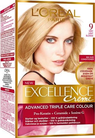 L'oréal Paris Excellence Creme 9 Very Light Blonde Vaalea Kestoväri 1Kpl