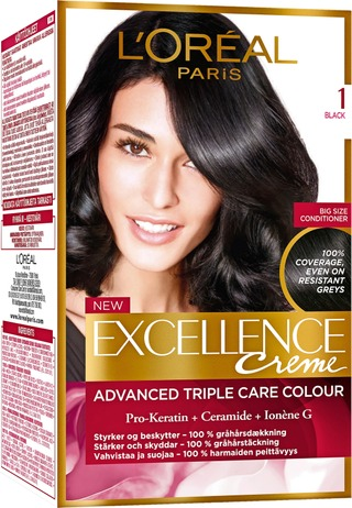 L'oréal Paris Excellence Creme 1 Black Musta Kestoväri 1Kpl