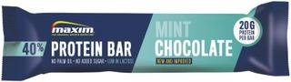 Maxim 40% Protein Bar Low Lactose Mint Chocolate Suklaan Ja Mintun Makuinen Vähälaktoosinen Proteiinipatukka 50G