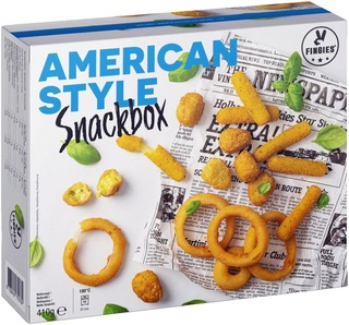 Fingies American Style Snackbox 410G Lajitelma Esipaistettu