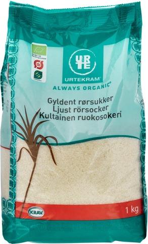Urtekram Luomu Kultainen Ruokosokeri 1Kg
