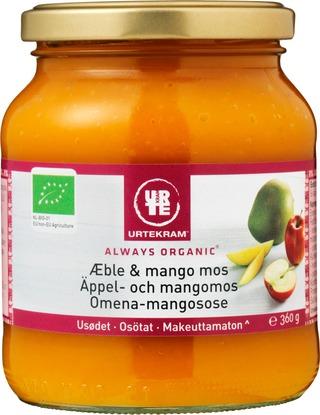 Urtekram 360g luomu makeuttamaton omena-mangosose