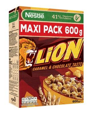 Nestlé Lion 600G Suklaan Ja Toffeen Makuisia Vehnä-Riisimuroja