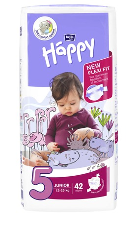 Happy Teippivaippa Junior 12-25Kg 42Kpl
