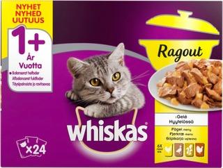 Whiskas 1+ Ragout Siipikarjalalajitelma hyytelössä 24x85g