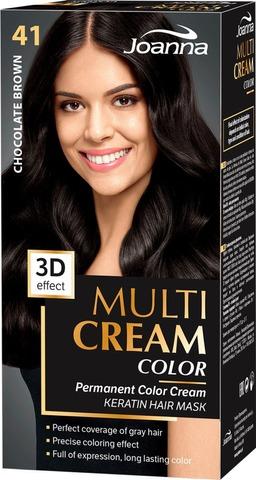 Joanna Multi Color Cream Hiusväri 41 Chocolate Brown Permanent