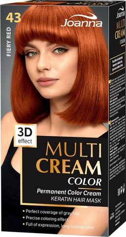 Joanna Multi Color Cream Hiusväri 43 Fiery Red Permanent