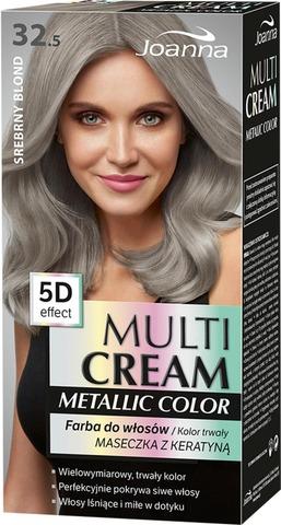 Multi Cream Metallic Color Silver Blond 32.5 Hiusväri