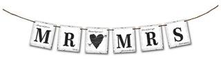 Mr & Mrs banneri 170x16cm