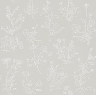 Simple Nature Tapetti Gray Flowers 273709 10,05M