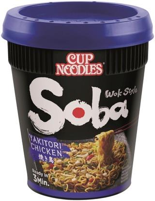Nissin Soba 89G Cup Nuudeleita Yakisobakastikkeessa Yakitori Chicken
