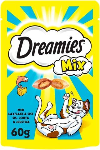 Dreamies Mix Lohi & Juusto 60g