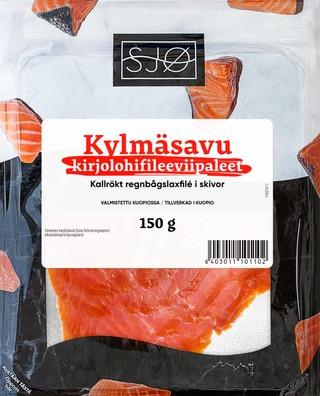 Sjø Kylmäsavustettu Kirjolohifilee Viipaleet 150G