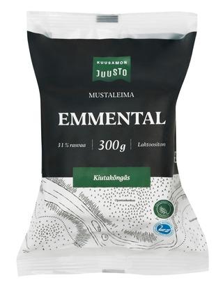 Kuusamon Juusto Mustaleima Emmental 300 G