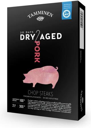 Tamminen Porsaan Dry Aged Chop Steaks Kyljysselästä 2Kpl 300G