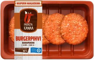 Naapurin Maalaiskanan burgerpihvi kanapekoni 500g