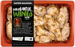 Naapurin Maalaiskanan wings, wild garlic 700g