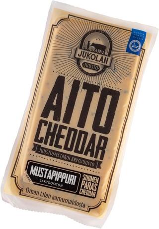 Jukolan Aito Cheddar Mustapippuri 160 G