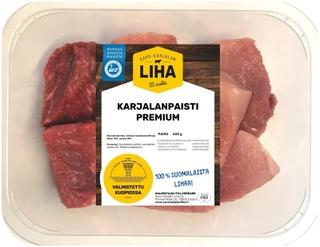 Savo-Karjalan Liha Oy Karjalan Paistilihat 600G, Naudan Paistikuutio 70%, Porsaan Kinkkukuutio 30%